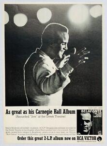 HARRY BELAFONTE 1963 original POSTER ADVERT AT THE GREEK THEATRE