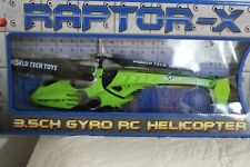 Raptor-X 3.5 Gyro RC Helicopter in Original Box for ages 8+