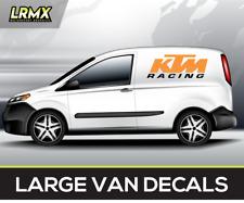 KTM RACING Motocross LARGE Van Decals Stickers Graphics X2 !! Supermoto Moto x