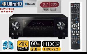 Pioneer VSX-531 650 Watts 4K HDR HDCP 2.2 Bluetooth 3D USB  receiver amplifier