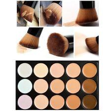 15 Colors Contour Face Cream Concealer Palette + Brush Daily Makeup Tool Set F#