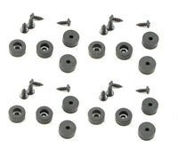 """16 Pack  Rubber Feet - Bumpers 1/2"""" Dia. x 1/4"""" Tall-With Screws  F5250"""