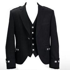 "Argyle Kilt Jacket With Waistcoat/Vest - Sizes 36""R- 54"" R,S & L Sizes"