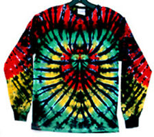 SALE RASTA SPIDER Hand-dyed TIE DYE T-SHIRT Size Long Sleeve LARGE