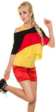 WM fútbol sexy 2in1 murciélago camiseta + Top Germany Alemania 34 36 38 negro