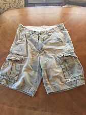 Hollister Co Camo Cargo Shorts Men's Size 32 Pockets 100% Cotton Cut Offs EUC