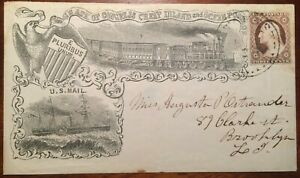Barnabas Bates Propaganda Cover, Cheap Inland & Ocean Postage, 2020 PFC 15 KNOWN