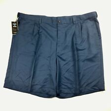 Haggar Mens Shorts Pleated Front Size 52 Blue Cool 18 Big & Tall NWOT