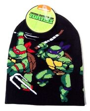 TEENAGE MUTANT NINJA TURTLES BEANIE KNIT WINTER HAT SKULL CAP RETRO VIDEO GAME