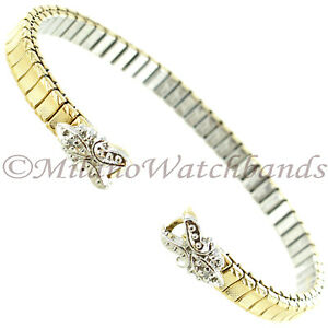 Speidel Twist-O-Flex Classic Adorna C-Ring Stainless/Gold Two Tone Band 2003/32