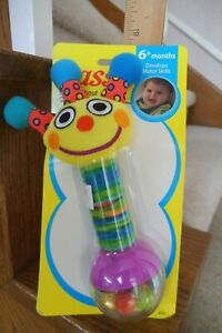 VINTAGE NEW 2000 SASSY SHAKE ABOUT SPROUT RATTLE IN ORIGINAL PKG  FREE SHIPPING