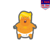 Angry Baby President Donald Trump Balloon 4 Stickers 4x4 Inch Sticker Decal