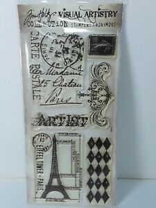 New Tim Holtz Visual Artistry Clear Stamps French Market Stampers Anonymous