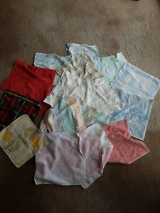 Bundle Of Flannels Face Cloths X 18 Vintage