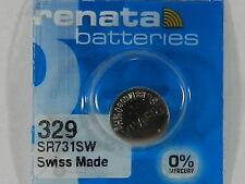 RENATA  Watch Battery  #329 /SR731W  Swiss Made  1Pc