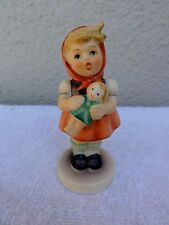 """Hummel Goebel """" Girl With Doll """"  Three Inch Figurine,  Excellent Condition"""