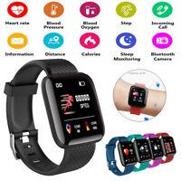 Fitness Activity Tracker Smart Watch Band Heart Rate Oxygen Blood Pressure Sport