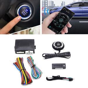 12V Universal Car One-Key Engine Start Stop Button Bluetooth Remote Control Kit