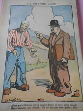 Caricature Politique La Grande Amie Paysan Député dessin Print 1934