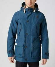 ONE TRUE SAXON ADDISON MOUNTAIN PARKA JACKET WITH HOOD IN PETROL BLUE SIZE LARGE