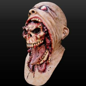 Halloween Bloody Zombie Mask Horrible Latex Scary Full Head Costume Cosplay Mask