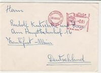 Brasil 1968 Machine Flag Slogan Cancel Stamps Cover to Germany ref R 18623