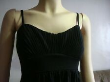 H & M Black Pleated  Cotton Top (Small)