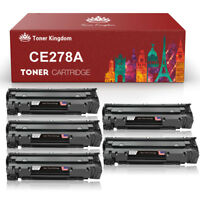 5 Pack CE278A 78A High Yield Black Toner w/chip for HP LaserJet M1536dnf P1606dn