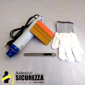 Kit applicazione pellicole wrapping (Spatola 3M - taglierino - Guanti- Pistola)