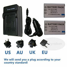 2X NP-BY1 EN-EL11 LI-60B Battery+Travel Charger for Sony Action Cam Mini HDR-AZ1