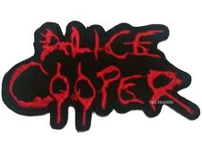 Alice Cooper Iron On/Sew On Patch/Badge Embroidered METAL BAND