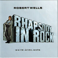 ROBERT WELLS - World.Wide.Wells (CD 2000) Rhapsody In Rock Signed!