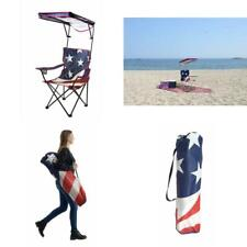Quik Shade Adjustable Canopy Folding Shade Chair, American Flag