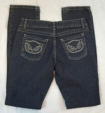 Paul & Joe Skinny Leg Dark Wash Owl Embroidered Jeans Size 5 (P12#641)