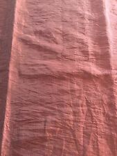 Curtain Sample Rem Fabric Blind Cushion Craft 70x94cm Rusty Red Brown