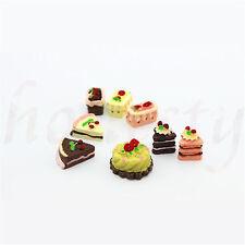 Set of 8 Mini Dollhouse Miniature Metal Different Cake Snack Dessert Food 1:12