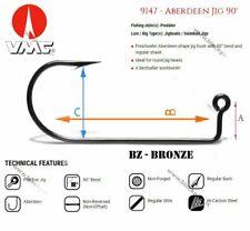VMC jig hook 9147BZ ,4/0 Bronze, A - 9.5mm, B - 40mm, C - 14mm / 100 pcs in pack