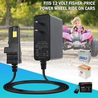 12Volt 12V Adapter Charger For Power Wheels 00801-1460 Grey Battery Fisher Price