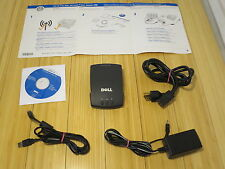 Genuine Dell Wireless 3300 Printer Adapter Cables, Install CD & Instructions