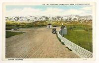 Denver Colorado Mt. Evans Snowy Range Inspiration Point Car Vintage Postcard