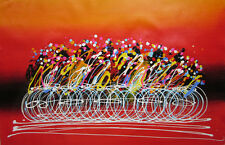 Canvas Wall Art Modern Decor Oil Painting Hand Painted,61 X 91cm,Bicycle racing
