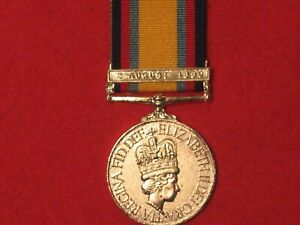 FULL SIZE GULF WAR 1990 1991 WITH AUG 1990 CLASP MUSEUM COPY MEDAL WITH RIBBON