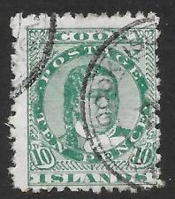 Cook Islands 1893-1900 10d. Green SG 10 (Used)