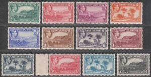 Montserrat 1938-48 King George VI Set Perf 13 Mint SG101-112 cat £110++