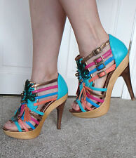 OFFICE BOHO STYLE HIGH HEEL SHOES SIZE UK4 EU37 RRP £120