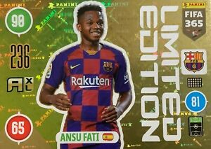 PANINI FIFA 365 2021 ADRENALYN XL LIMITED EDITION ANSU FATI