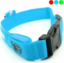 Sick Products LED Dog Collar, USB Rechargeable Blue