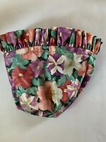 Longaberger Petunia Small Booking Basket Floral Fabric Liner Spring Flowers