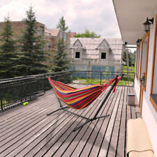 Home Garden Hammock swing bed med duty metal frame for Adult Children Camping