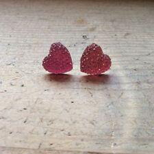 Unbranded Heart Plastic Costume Earrings